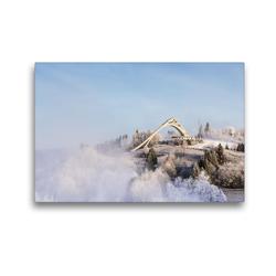 Premium Textil-Leinwand 45 x 30 cm Quer-Format Winterberger St. Georg Schanze | Wandbild, HD-Bild auf Keilrahmen, Fertigbild auf hochwertigem Vlies, Leinwanddruck von Heidi Bücker
