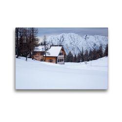 Premium Textil-Leinwand 45 x 30 cm Quer-Format Winteridyll   Wandbild, HD-Bild auf Keilrahmen, Fertigbild auf hochwertigem Vlies, Leinwanddruck von Matthias Schaefgen