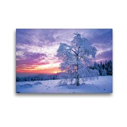 Premium Textil-Leinwand 45 x 30 cm Quer-Format Wintertraum im Schwarzwald | Wandbild, HD-Bild auf Keilrahmen, Fertigbild auf hochwertigem Vlies, Leinwanddruck von CALVENDO