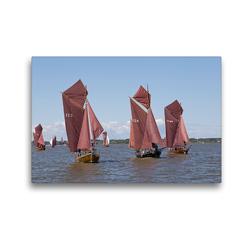 Premium Textil-Leinwand 45 x 30 cm Quer-Format Zeesenbootregatta   Wandbild, HD-Bild auf Keilrahmen, Fertigbild auf hochwertigem Vlies, Leinwanddruck von N N