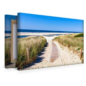 Premium Textil-Leinwand 450 x 300 cm Quer-Format Langeoog – Strandweg   Wandbild, HD-Bild auf Keilrahmen, Fertigbild auf hochwertigem Vlies, Leinwanddruck von Andrea Dreegmeyer