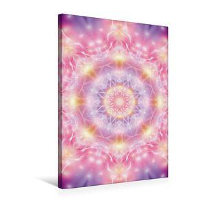 Premium Textil-Leinwand 50 cm x 75 cm hoch, Mandala – Seelenöffnung | Wandbild, Bild auf Keilrahmen, Fertigbild auf echter Leinwand, Leinwanddruck von Shayana Hoffmann,  Gaby