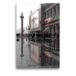 Premium Textil-Leinwand 50 x 75 cm Hoch-Format Acqua Alta San Marco | Wandbild, HD-Bild auf Keilrahmen, Fertigbild auf hochwertigem Vlies, Leinwanddruck von Foto-FukS