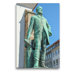 Premium Textil-Leinwand 50 x 75 cm Hoch-Format Alfred Krupp an der Marktkirche | Wandbild, HD-Bild auf Keilrahmen, Fertigbild auf hochwertigem Vlies, Leinwanddruck von pixs:sell@Adobe Stock