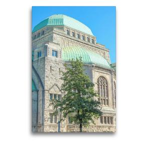 Premium Textil-Leinwand 50 x 75 cm Hoch-Format Alte Synagoge   Wandbild, HD-Bild auf Keilrahmen, Fertigbild auf hochwertigem Vlies, Leinwanddruck von pixs:sell@Adobe Stock