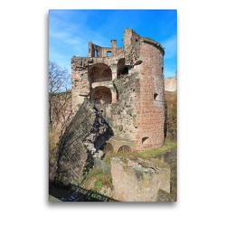 Premium Textil-Leinwand 50 x 75 cm Hoch-Format Apothekerturm Heidelberger Schloss | Wandbild, HD-Bild auf Keilrahmen, Fertigbild auf hochwertigem Vlies, Leinwanddruck von pixs:sell