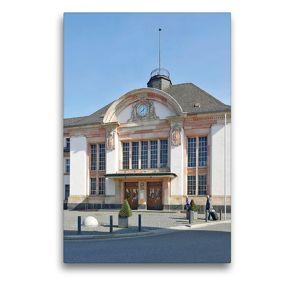 Premium Textil-Leinwand 50 x 75 cm Hoch-Format Bahnhof   Wandbild, HD-Bild auf Keilrahmen, Fertigbild auf hochwertigem Vlies, Leinwanddruck von N N