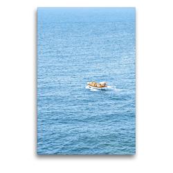 Premium Textil-Leinwand 50 x 75 cm Hoch-Format Bootstour   Wandbild, HD-Bild auf Keilrahmen, Fertigbild auf hochwertigem Vlies, Leinwanddruck von ROBERT STYPPA
