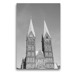 Premium Textil-Leinwand 50 x 75 cm Hoch-Format Bremer Dom | Wandbild, HD-Bild auf Keilrahmen, Fertigbild auf hochwertigem Vlies, Leinwanddruck von kattobello
