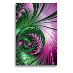 Premium Textil-Leinwand 50 x 75 cm Hoch-Format Das abstrakte Federkleid | Wandbild, HD-Bild auf Keilrahmen, Fertigbild auf hochwertigem Vlies, Leinwanddruck von Claudia Burlager