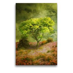 Premium Textil-Leinwand 50 x 75 cm Hoch-Format Der Wunschbaum | Wandbild, HD-Bild auf Keilrahmen, Fertigbild auf hochwertigem Vlies, Leinwanddruck von Martina Kröger