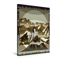 Premium Textil-Leinwand 50 x 75 cm Hoch-Format Die Alpen   Wandbild, HD-Bild auf Keilrahmen, Fertigbild auf hochwertigem Vlies, Leinwanddruck von Irene Repp von Repp,  Irene