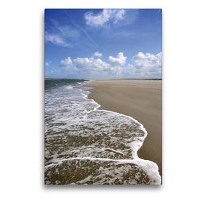Premium Textil-Leinwand 50 x 75 cm Hoch-Format Die Flut kommt | Wandbild, HD-Bild auf Keilrahmen, Fertigbild auf hochwertigem Vlies, Leinwanddruck von Susanne Herppich