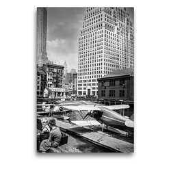 Premium Textil-Leinwand 50 x 75 cm Hoch-Format Downtown Skyport, Pier 11, East River, Manhattan, 1936 | Wandbild, HD-Bild auf Keilrahmen, Fertigbild auf hochwertigem Vlies, Leinwanddruck von Christian Müringer