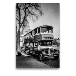 Premium Textil-Leinwand 50 x 75 cm Hoch-Format Fifth Avenue Bus, Washington Square, Manhattan, 1936 | Wandbild, HD-Bild auf Keilrahmen, Fertigbild auf hochwertigem Vlies, Leinwanddruck von Christian Müringer