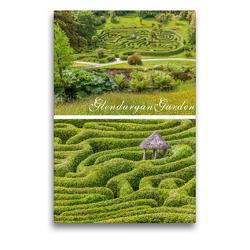 Premium Textil-Leinwand 50 x 75 cm Hoch-Format Garten-Labyrinth Glendurgan Garden in Cornwall, England | Wandbild, HD-Bild auf Keilrahmen, Fertigbild auf hochwertigem Vlies, Leinwanddruck von Christian Müringer