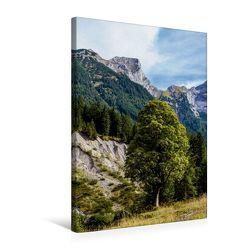 Premium Textil-Leinwand 50 x 75 cm Hoch-Format Grasbergjoch im Karwendel   Wandbild, HD-Bild auf Keilrahmen, Fertigbild auf hochwertigem Vlies, Leinwanddruck von Horst Eisele von Eisele,  Horst