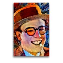 Premium Textil-Leinwand 50 x 75 cm Hoch-Format Harold Lloyd | Wandbild, HD-Bild auf Keilrahmen, Fertigbild auf hochwertigem Vlies, Leinwanddruck von Garrulus glandarius