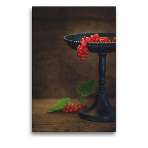 Premium Textil-Leinwand 50 x 75 cm Hoch-Format Johannisbeeren | Wandbild, HD-Bild auf Keilrahmen, Fertigbild auf hochwertigem Vlies, Leinwanddruck von Regina Steudte