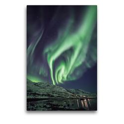 Premium Textil-Leinwand 50 x 75 cm Hoch-Format Kjosen, Kvaløya | Wandbild, HD-Bild auf Keilrahmen, Fertigbild auf hochwertigem Vlies, Leinwanddruck von Sebastian Worm