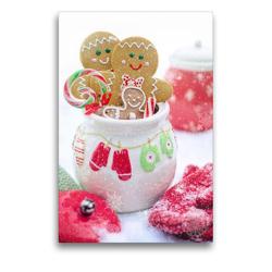 Premium Textil-Leinwand 50 x 75 cm Hoch-Format Lebkuchen in der Vorweihnachtszeit | Wandbild, HD-Bild auf Keilrahmen, Fertigbild auf hochwertigem Vlies, Leinwanddruck von Rose Hurley