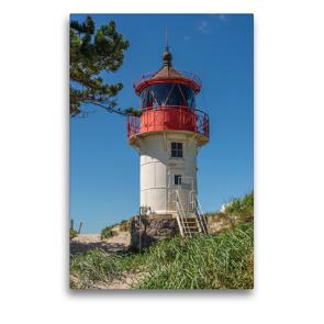 Premium Textil-Leinwand 50 x 75 cm Hoch-Format Leuchtfeuer Gellen – Hiddensee | Wandbild, HD-Bild auf Keilrahmen, Fertigbild auf hochwertigem Vlies, Leinwanddruck von Karl H. Warkentin