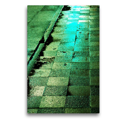 Premium Textil-Leinwand 50 x 75 cm Hoch-Format Licht – Straßen im Regen bei Nacht | Wandbild, HD-Bild auf Keilrahmen, Fertigbild auf hochwertigem Vlies, Leinwanddruck von Eike Winter