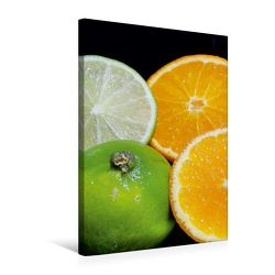 Premium Textil-Leinwand 50 x 75 cm Hoch-Format Limetten und Orangen | Wandbild, HD-Bild auf Keilrahmen, Fertigbild auf hochwertigem Vlies, Leinwanddruck von Gerhard Kraus