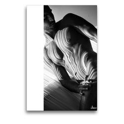 Premium Textil-Leinwand 50 x 75 cm Hoch-Format Männer AKT abstrakt   Wandbild, HD-Bild auf Keilrahmen, Fertigbild auf hochwertigem Vlies, Leinwanddruck von Ulrich Allgaier