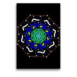 Premium Textil-Leinwand 50 x 75 cm Hoch-Format Mandalas Lichtfunken | Wandbild, HD-Bild auf Keilrahmen, Fertigbild auf hochwertigem Vlies, Leinwanddruck von Gabi Zapf