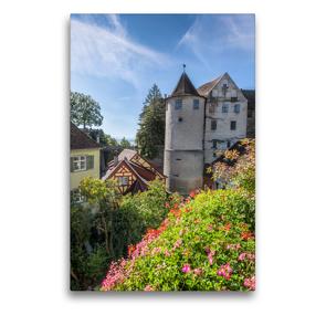Premium Textil-Leinwand 50 x 75 cm Hoch-Format MEERSBURG Idyllische Altstadt am Bodensee | Wandbild, HD-Bild auf Keilrahmen, Fertigbild auf hochwertigem Vlies, Leinwanddruck von Melanie Viola