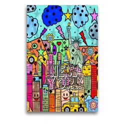 Premium Textil-Leinwand 50 x 75 cm Hoch-Format New York | Wandbild, HD-Bild auf Keilrahmen, Fertigbild auf hochwertigem Vlies, Leinwanddruck von Nico Bielow