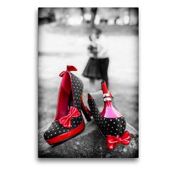 Premium Textil-Leinwand 50 x 75 cm Hoch-Format Rockabilly pur | Wandbild, HD-Bild auf Keilrahmen, Fertigbild auf hochwertigem Vlies, Leinwanddruck von Janita Webeler