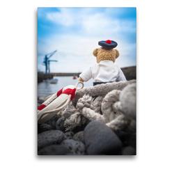 Premium Textil-Leinwand 50 x 75 cm Hoch-Format Teddybären Abenteuer – Zu Hause und Unterwegs | Wandbild, HD-Bild auf Keilrahmen, Fertigbild auf hochwertigem Vlies, Leinwanddruck von 75tiks