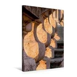 Premium Textil-Leinwand 50 x 75 cm Hoch-Format Treppenaufgang im Morgenlicht | Wandbild, HD-Bild auf Keilrahmen, Fertigbild auf hochwertigem Vlies, Leinwanddruck von Thomas Jäger