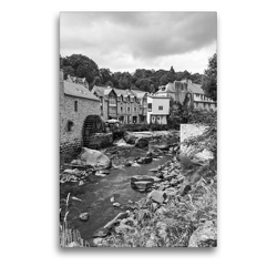 Premium Textil-Leinwand 50 x 75 cm Hoch-Format Wassermühle in Pont-Aven | Wandbild, HD-Bild auf Keilrahmen, Fertigbild auf hochwertigem Vlies, Leinwanddruck von Andreas Pidde