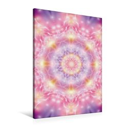 Premium Textil-Leinwand 60 cm x 90 cm hoch, Mandala – Seelenöffnung | Wandbild, Bild auf Keilrahmen, Fertigbild auf echter Leinwand, Leinwanddruck
