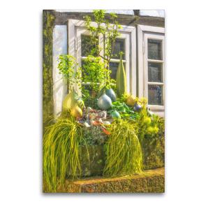 Premium Textil-Leinwand 60 x 90 cm Hoch-Format Authentische Hausfassade eines typischen Fachwerkhauses | Wandbild, HD-Bild auf Keilrahmen, Fertigbild auf hochwertigem Vlies, Leinwanddruck von Bettina Hackstein