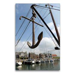 Premium Textil-Leinwand 60 x 90 cm Hoch-Format Bootsanker im Hafen | Wandbild, HD-Bild auf Keilrahmen, Fertigbild auf hochwertigem Vlies, Leinwanddruck von Susanne Herppich