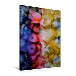Premium Textil-Leinwand 60 x 90 cm Hoch-Format Bougainvillea – Südseeträume, Encaustic | Wandbild, HD-Bild auf Keilrahmen, Fertigbild auf hochwertigem Vlies, Leinwanddruck von Ulrike Kröll von Kröll,  Ulrike