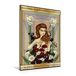 Premium Textil-Leinwand 60 x 90 cm Hoch-Format Das Viola-Konzert | Wandbild, HD-Bild auf Keilrahmen, Fertigbild auf hochwertigem Vlies, Leinwanddruck von Irene Repp von Repp,  Irene