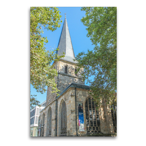 Premium Textil-Leinwand 60 x 90 cm Hoch-Format Essener Dom   Wandbild, HD-Bild auf Keilrahmen, Fertigbild auf hochwertigem Vlies, Leinwanddruck von pixs:sell@Adobe Stock
