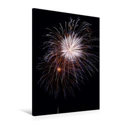 Premium Textil-Leinwand 60 x 90 cm Hoch-Format Feuer… über der Stadt | Wandbild, HD-Bild auf Keilrahmen, Fertigbild auf hochwertigem Vlies, Leinwanddruck von Roland Störmer