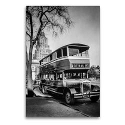 Premium Textil-Leinwand 60 x 90 cm Hoch-Format Fifth Avenue Bus, Washington Square, Manhattan, 1936 | Wandbild, HD-Bild auf Keilrahmen, Fertigbild auf hochwertigem Vlies, Leinwanddruck von Christian Müringer