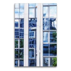 Premium Textil-Leinwand 60 x 90 cm Hoch-Format Frankfurts Architekturen – Spiegelbilder der Bürostadt Niederrad | Wandbild, HD-Bild auf Keilrahmen, Fertigbild auf hochwertigem Vlies, Leinwanddruck von N N