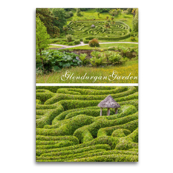 Premium Textil-Leinwand 60 x 90 cm Hoch-Format Garten-Labyrinth Glendurgan Garden in Cornwall, England | Wandbild, HD-Bild auf Keilrahmen, Fertigbild auf hochwertigem Vlies, Leinwanddruck von Christian Müringer