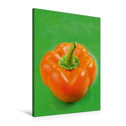 Premium Textil-Leinwand 60 x 90 cm Hoch-Format Gelbe Paprika | Wandbild, HD-Bild auf Keilrahmen, Fertigbild auf hochwertigem Vlies, Leinwanddruck von Gerhard Kraus