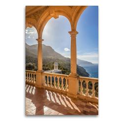 Premium Textil-Leinwand 60 x 90 cm Hoch-Format Herrenhaus Son Marroig auf Mallorca   Wandbild, HD-Bild auf Keilrahmen, Fertigbild auf hochwertigem Vlies, Leinwanddruck von Christian Müringer
