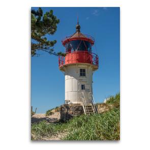 Premium Textil-Leinwand 60 x 90 cm Hoch-Format Leuchtfeuer Gellen – Hiddensee | Wandbild, HD-Bild auf Keilrahmen, Fertigbild auf hochwertigem Vlies, Leinwanddruck von Karl H. Warkentin