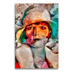 Premium Textil-Leinwand 60 x 90 cm Hoch-Format Louise Brooks | Wandbild, HD-Bild auf Keilrahmen, Fertigbild auf hochwertigem Vlies, Leinwanddruck von Garrulus glandarius